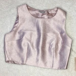 Forever 21 Contemporary Rose Gold Metallic Top